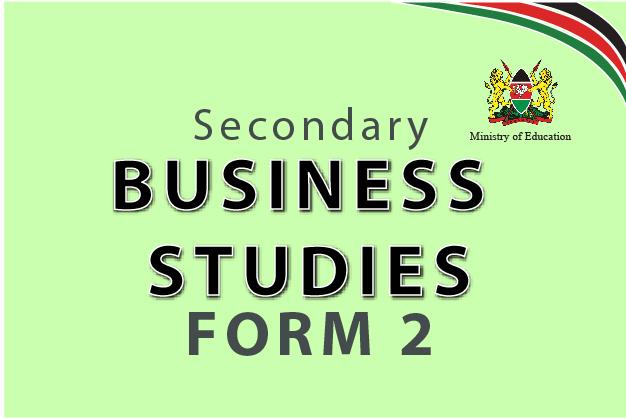 Business Studies Form 2