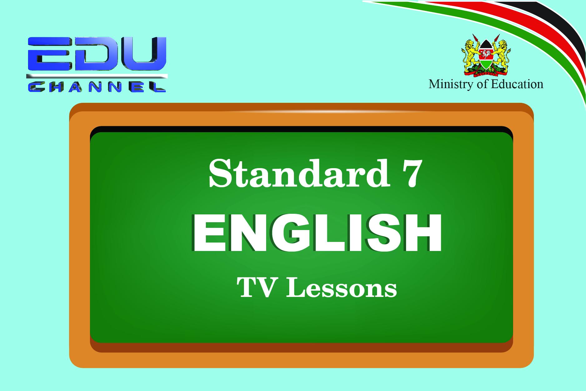 Standard 7 English Lesson 1:Oral Work Language Pattern