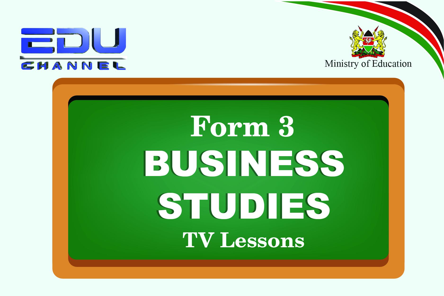 Form 3 Business Studies Lesson 2: Factors Influencing Demand