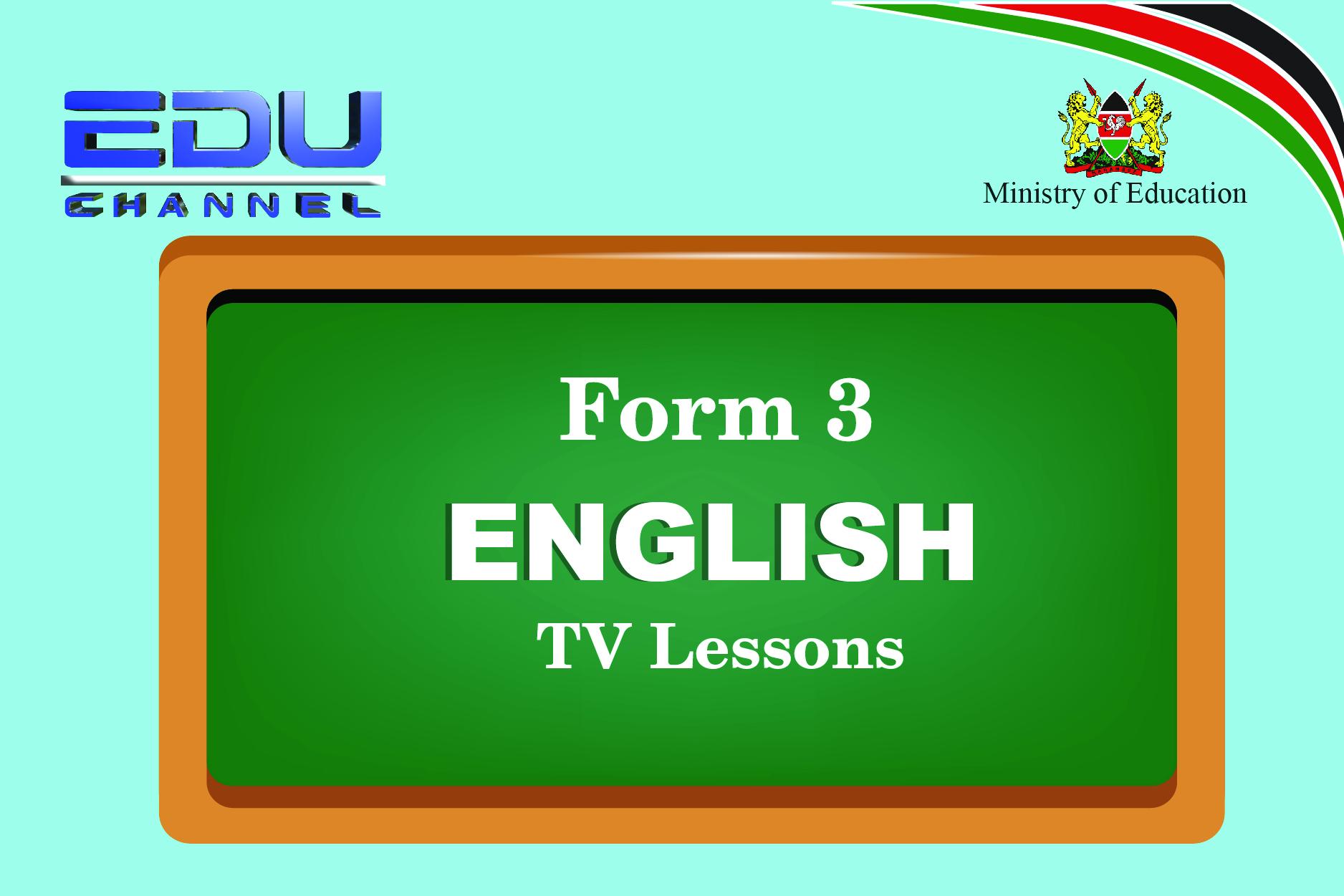 Form 3 English Lesson 2: Oral Skills Stress
